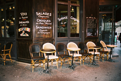 Small street cafe in Paris