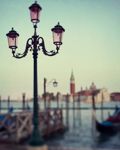 Venice, Italy, Travel Photograph, Gondolas, Lamp post - This is how Iremember it